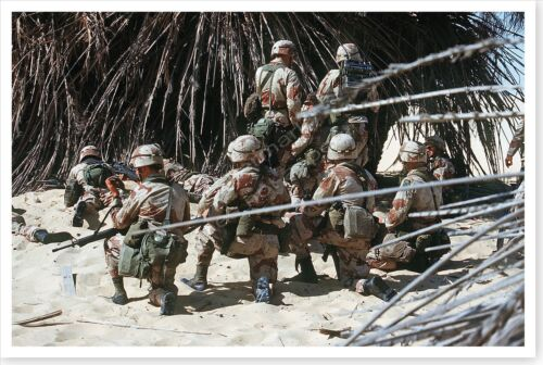 82nd Airborne Division Troops Training Exercise During Desert Shield 8x12 PhotoReproductions - 156449