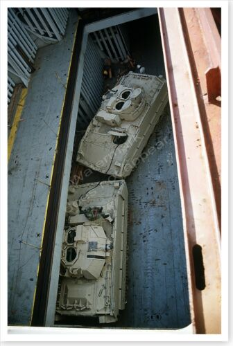 M-2A2 Bradley Fighting Vehicles In Cargo Hold Desert Shield 8x12 PhotoReproductions - 156449