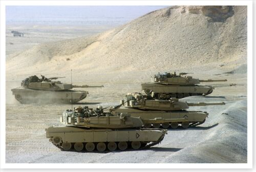 1st Cavalry Division M-1A1 Abrams Tanks Operation Desert Shield 8x12 PhotoReproductions - 156449