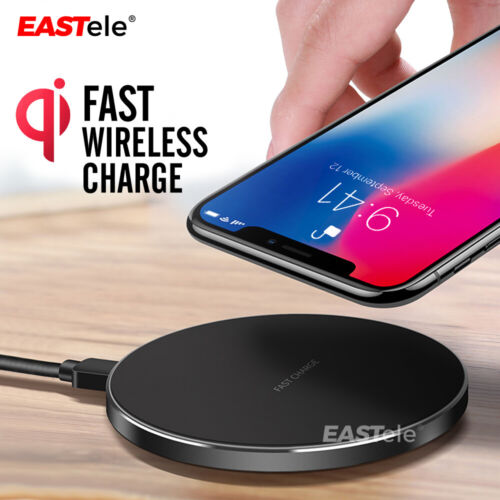 Qi Wireless Charger FAST Charging Pad Receiver For iPhone XS XR 8 Samsung S9 S8 <br/> 20% off* with code PILOT. 5 txn pp. T&Cs apply.