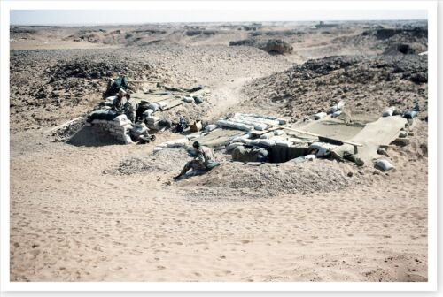 Soldiers Digging In Near Iraq Border Operation Desert Storm 8x12 Photo