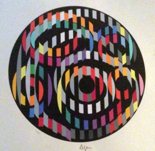 """Yaacov Agam       """"Message of Peace""""    Lithograph on Paper      BA"""