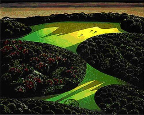 """Eyvind Earl       """"Two Emerald Jewels""""       Serigraph on Paper"""
