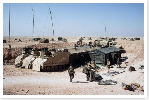 2nd Armored Cavalry Regiment Command Center M-577 Vehicles Desert Storm PhotoReproductions - 156449