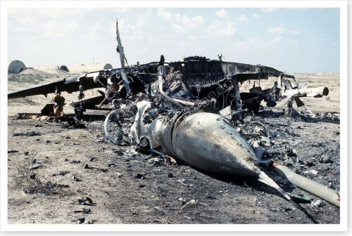 Destroyed Iraqi MiG-29 Fighter Operation Desert Storm 8 x 12 PhotoReproductions - 156449