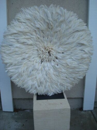 """32"""" White  / African Feather Headdress / Juju Hat / 1st. Quality / New Shipment"""