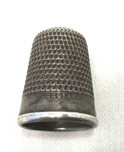 English Nickel Silver Thimble Sewing-Crafts-Size 2.                       #607