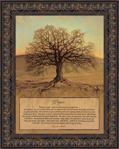 TODAY by Bonnie Mohr 16x20 Tree Today Is A Gift Quote FRAMED WALL ART PICTURE