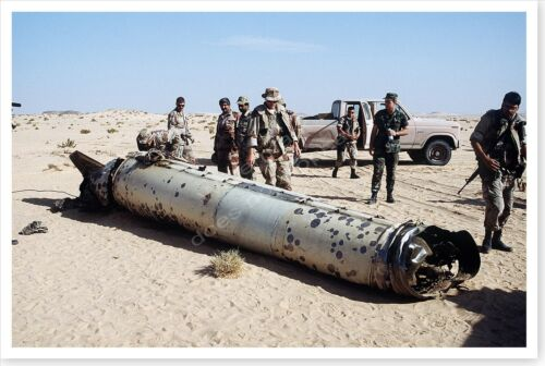 Iraqi Scud Missile Laying In Desert Operation Desert Storm 8x12 Photo