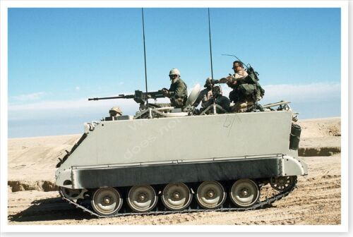 M-113 Armored Personnel Carrier Operation Desert Storm 8x12 Silver Halide Photo