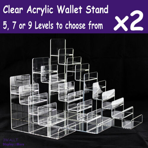 Wallet Holder Stand DISPLAY Rack | 2pcs | ACRYLIC Clear | Reliable | AUS Stock