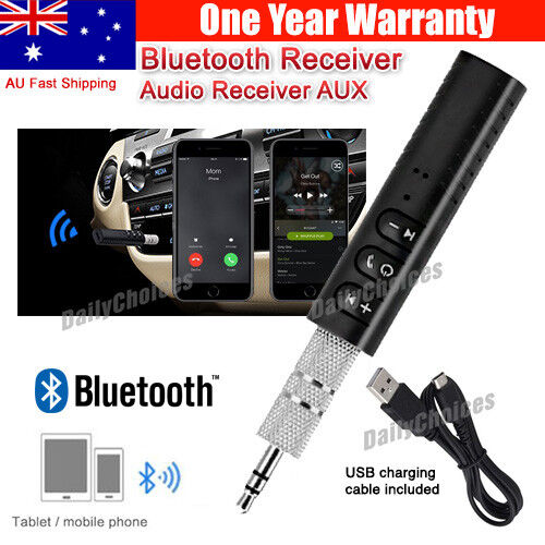 Wireless Bluetooth Phones To 3.5mm AUX Car Stereo Audio Music Receiver Adapter