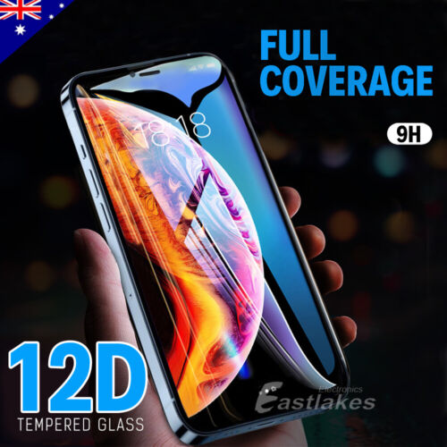 Apple iPhone XS Max XR X 10D Tempered Glass Screen Protector Full Cover 8 7 Plus