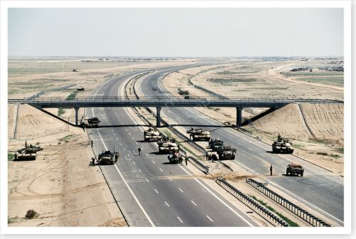 M-1A1 Abrams At Checkpoint On Highway 8 Operation Desert Storm 8 x 12 Photo