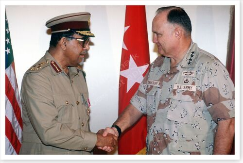General Norman Schwarzkopf With Qatar General Operation Desert Storm 8x12 PhotoReproductions - 156449