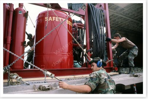 301st Military Airlift Squadron Securing Equipment Desert Storm 8 x 12 Photo