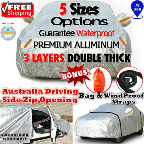5 size Aluminum waterproof car cover rain resistant UV dust protect car cover