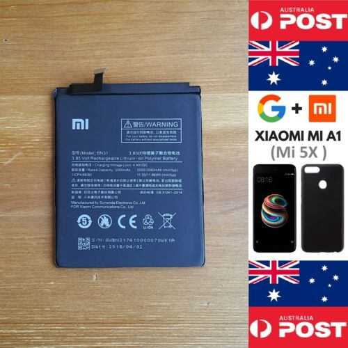 GENUINE Xiaomi MiA1 (Mi 5X)  Mi5X Battery BN31 3080mAh Good Quality - Local