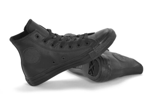 CONVERSE ALL STAR CT HI LEATHER - BLACK MONO - UNISEX SNEAKERS - 135251C - NEW