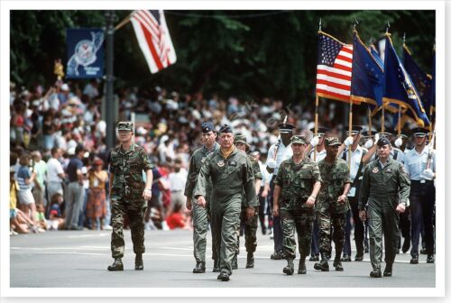 General Horner At National Victory Day Celebration Desert Storm 8 x 12 PhotoReproductions - 156449