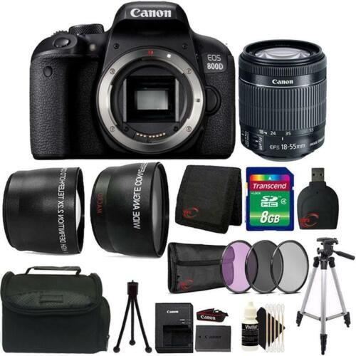 Canon EOS 800D / T7i 24.2MP DSLR Camera with 18-55mm IS STM Top Starter Bundle
