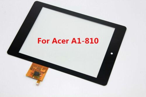 """VETRO+ TOUCH SCREEN ACER ICONIA TAB A1-810 8"""" A810 DIGITIZER DISPLAY NERO TABLET"""