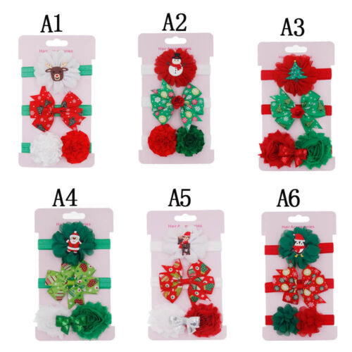 Fashion Kids Elastic Floral Christmas Headband Hair Girls Baby Princess Hairband