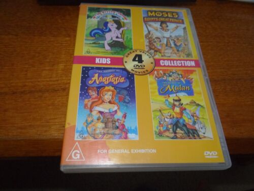 MY LITTLE PONY, MOSES, ANASTASIA AND MULAN DVD *GOING CHEAP*
