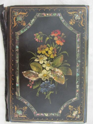Antique Victorian Papier Mache Document Holder ? Beautiful Needs Some Attention
