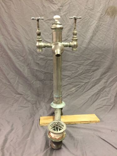 Antique JL Mott Nickel Brass Bathtub Faucet Tower Standing Drain Waste 316-18C