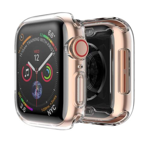 2 Pack For Apple Watch Series 4 40mm 44mm Soft TPU Protective iWatch Case Cover