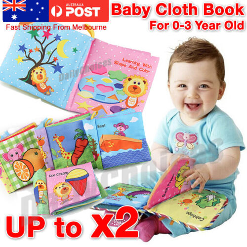 Baby Animal Cloth Book Infant Kid Intelligence Development Toy Bed Cognize Books <br/> Fast ship from Melbourne