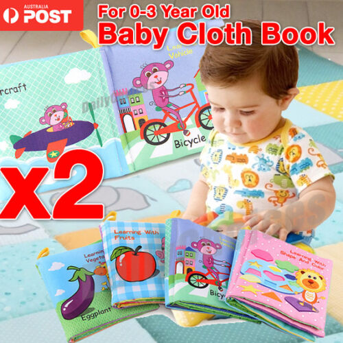 Newborn Infant 0-3 Years Educational Fabric Baby Toys Cloth Books