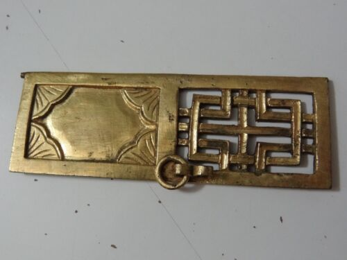 ANTIQUE MONGOLIAN TIBETAN COPPER GILDED SMALL DOOR