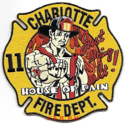 """*NEW*  Charlotte  Station - 11  """"House of Pain"""", North Carolina  fire patch"""