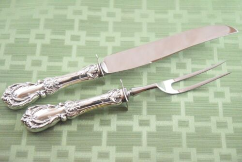 BURGUNDY Carving Set 2 Pieces Reed & Barton Sterling