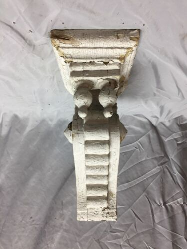 Single Antique Double Finial Wood Corbel Shelf Shabby Vintage Old Chic 480-18C
