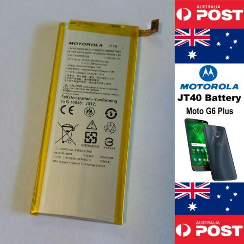 MOTOROLA JT40 GENUINE Original Battery Moto G6 PLUS XT1926 3200mAh - Local