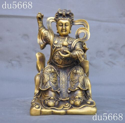 Collection old Chinese bronze Buddhism temple nine days mysterious women statue