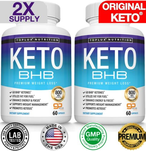 Ultra Fast Pure Keto BHB Weight Loss Diet Pills 90 CAPSULE Ketogenic Supplement  <br/> #1 KETO PILL DIET GoBHB® (90 CAPSULES) WEIGHT LOSS