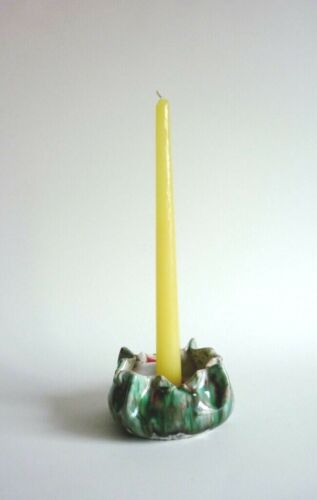 Vintage Mid Century Italian Pottery Candle Holder