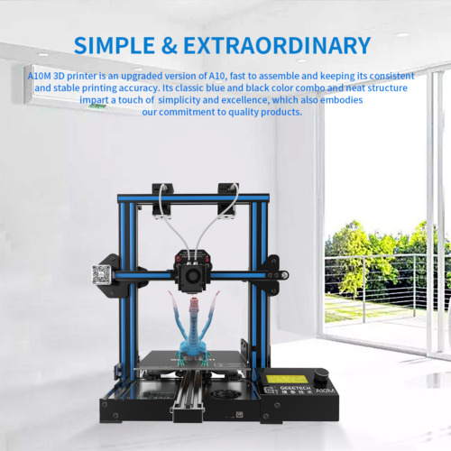 US Updated Geeetech 3D Printer A10M 2 in 1 out Extruder with Filament Detector