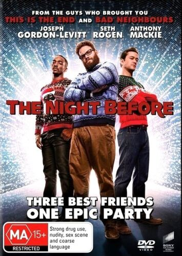 THE NIGHT BEFORE New Dvd SETH ROGEN ***