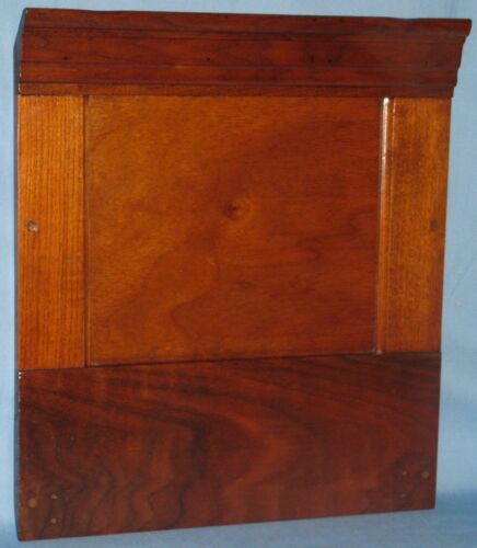 """ANTIQUE SOLID BURL WALNUT PANEL NATURAL FINISH TIERED MOLDING 17""""H x 15""""W"""