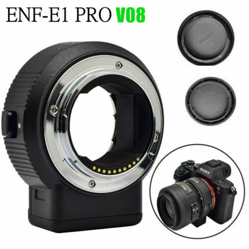 Commlite CM-ENF-E1 PRO V06 Focus Lens Adapter for Nikon F Lens to Sony E-mount <br/> IN Stock✔100% New✔Safe Fast Shipping✔A6300 A6500 A9