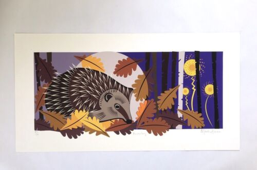 Limited Edition Screen Print 'Hedgehog' By Mark Greco