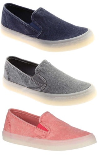 Sperry Women's Seaside Drink Slip On Canvas Boat Shoes Casual Flats Loafers NEW