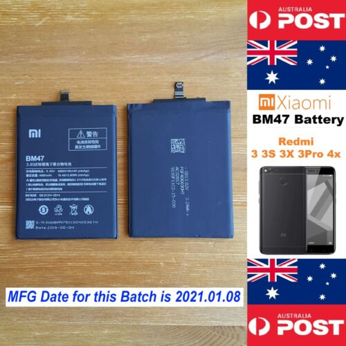 GENUINE Xiaomi Redmi 3 3S 3X 3Pro 4X Battery BM47 4100mAh Good Quality Local !