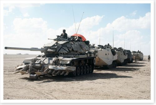 M60A1 Tank Mine Clearing Rollers And Plow Operation Desert Storm 8 x 12 PhotoReproductions - 156449
