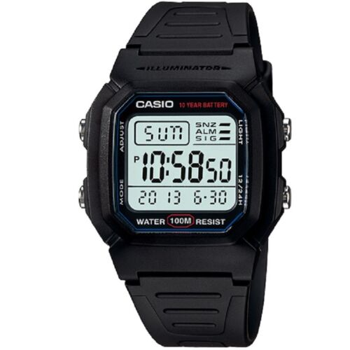 Casio W-800H-1AV Black Classic 100m Digital Unisex Digital Sports Watch